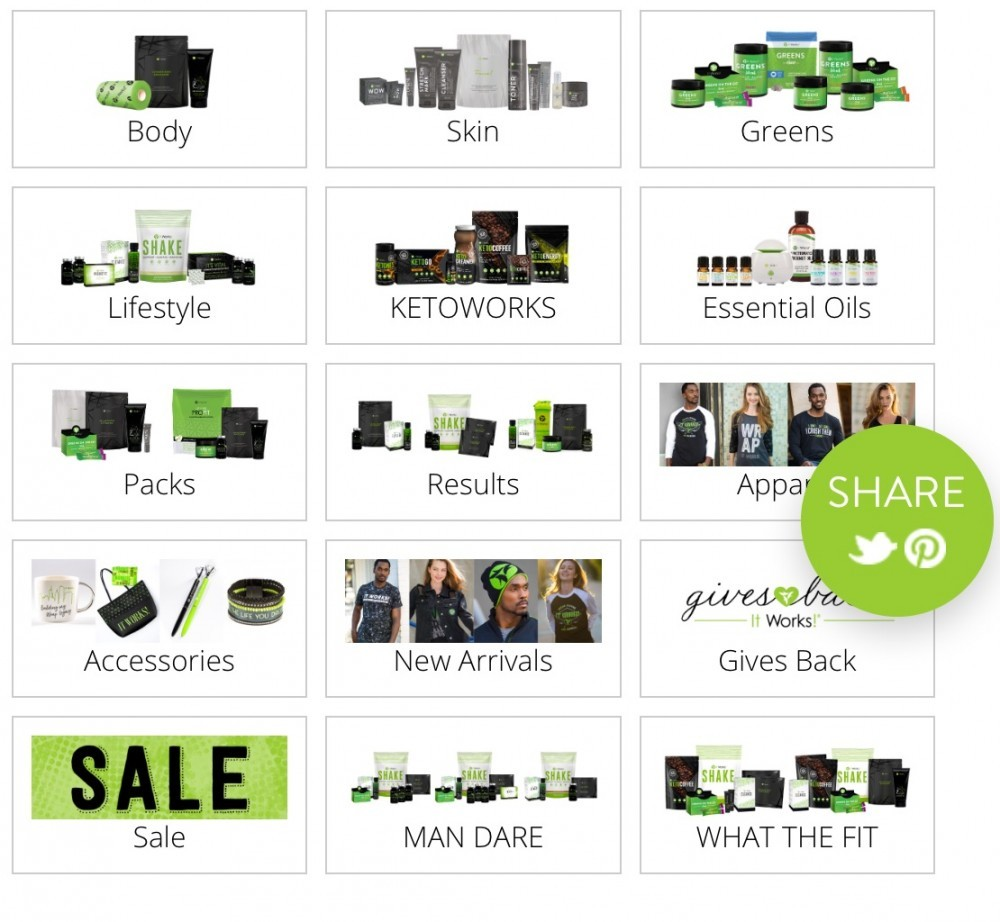 It Works Products available 2018