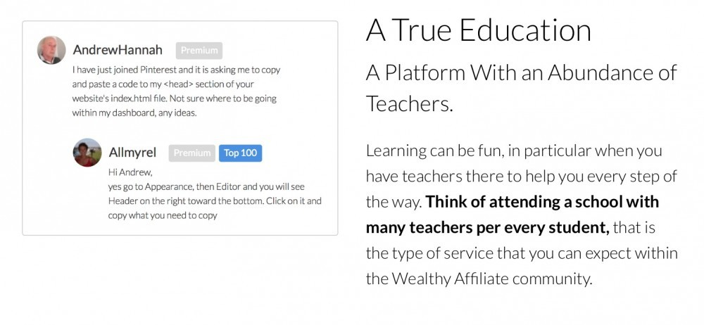A True Education, a platform with an Abundance of Teachers