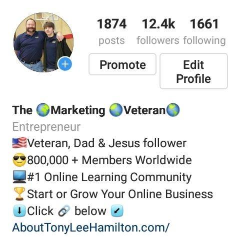 Instagram Tony Lee Hamilton Marketing Veteran