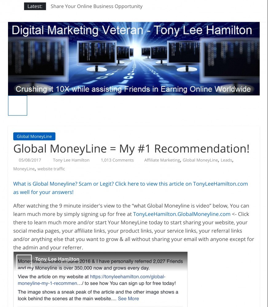 What is Global Moneyline My #1 Recomendation