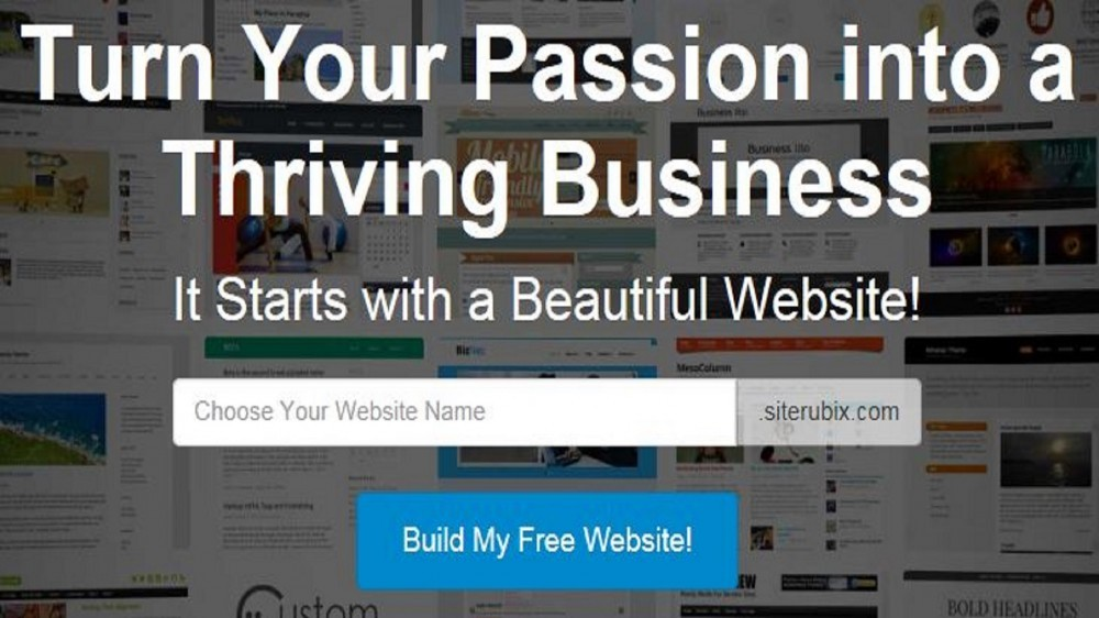 SiteRubix - The #1 free website hosting with domain name