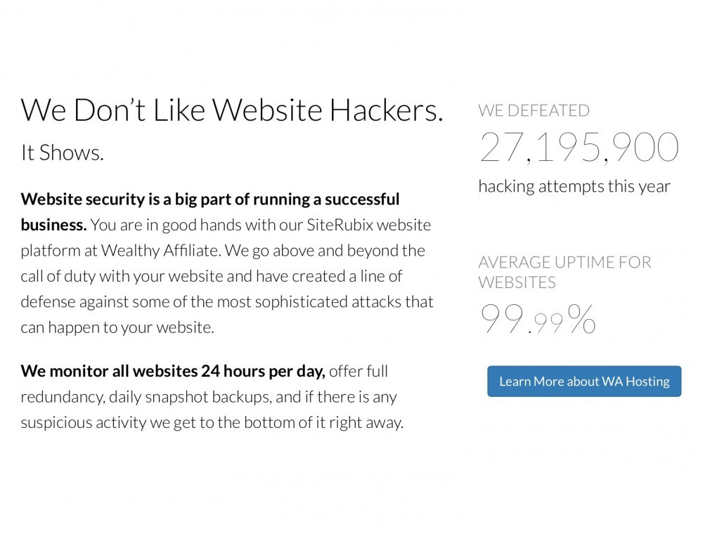 Website Security = No Hackers Allowed 24 Hours per Day Monitored