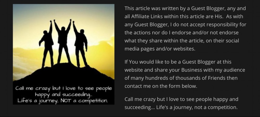 Guest Blogger at Tony Lee Hamilton Digital Marketing Veteran
