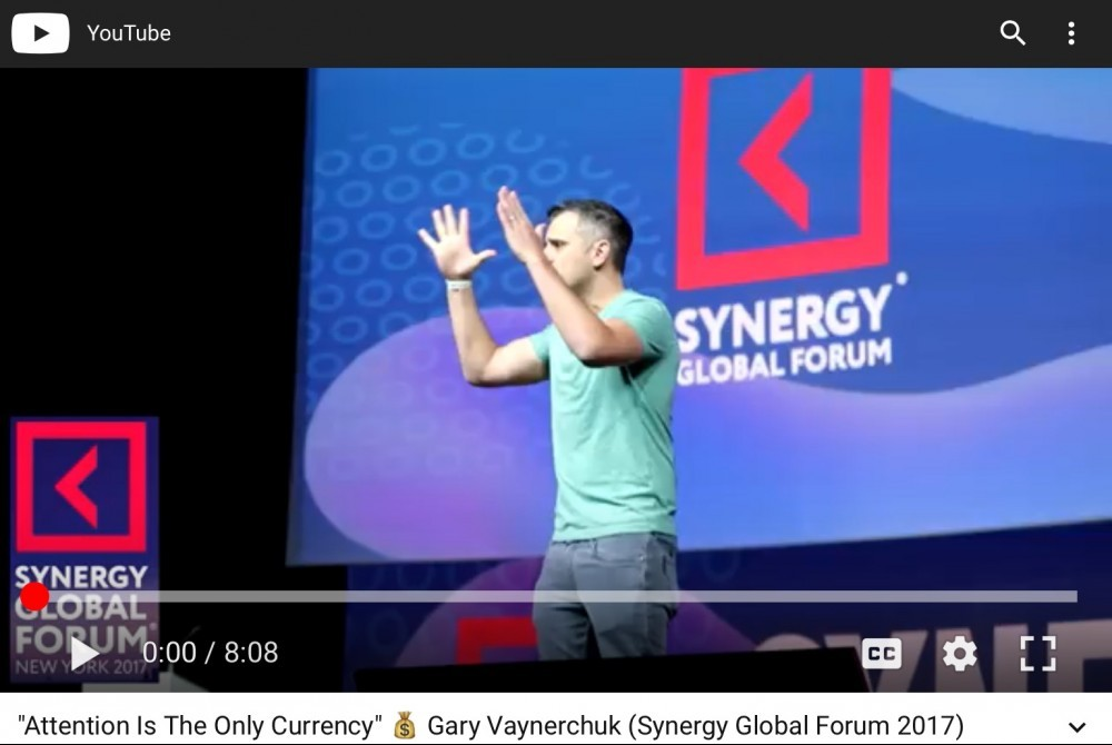 Gary Vee Attention is the only currency