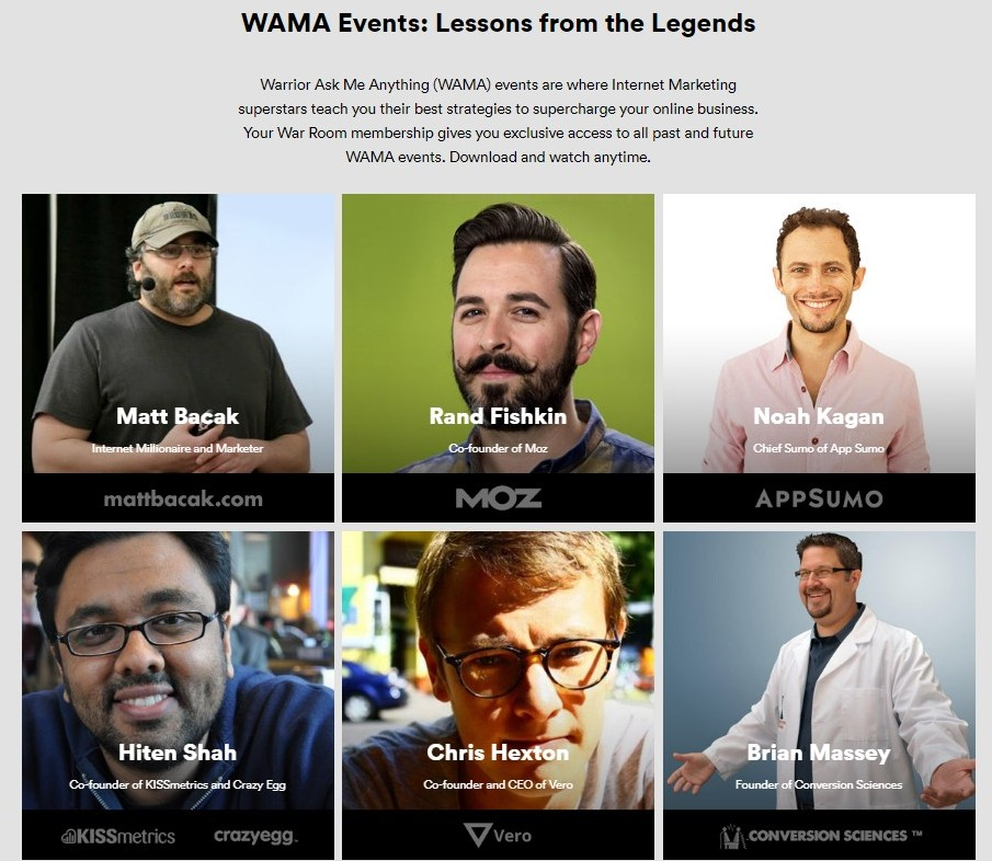 warrior ask me anything(wama) events