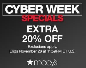 Macy's Cyber Week Specials