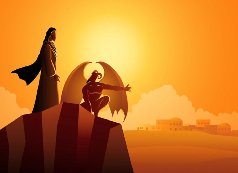 Jesus wins spiritual warfare against Satan