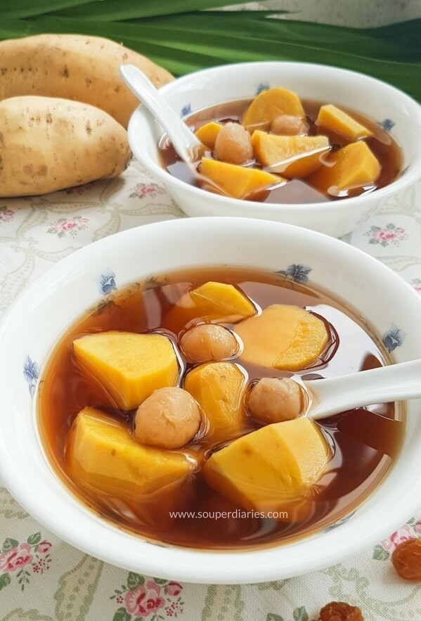 Chinese sweet potato ginger soup
