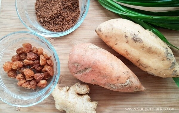 Sweet potato ginger soup ingredients