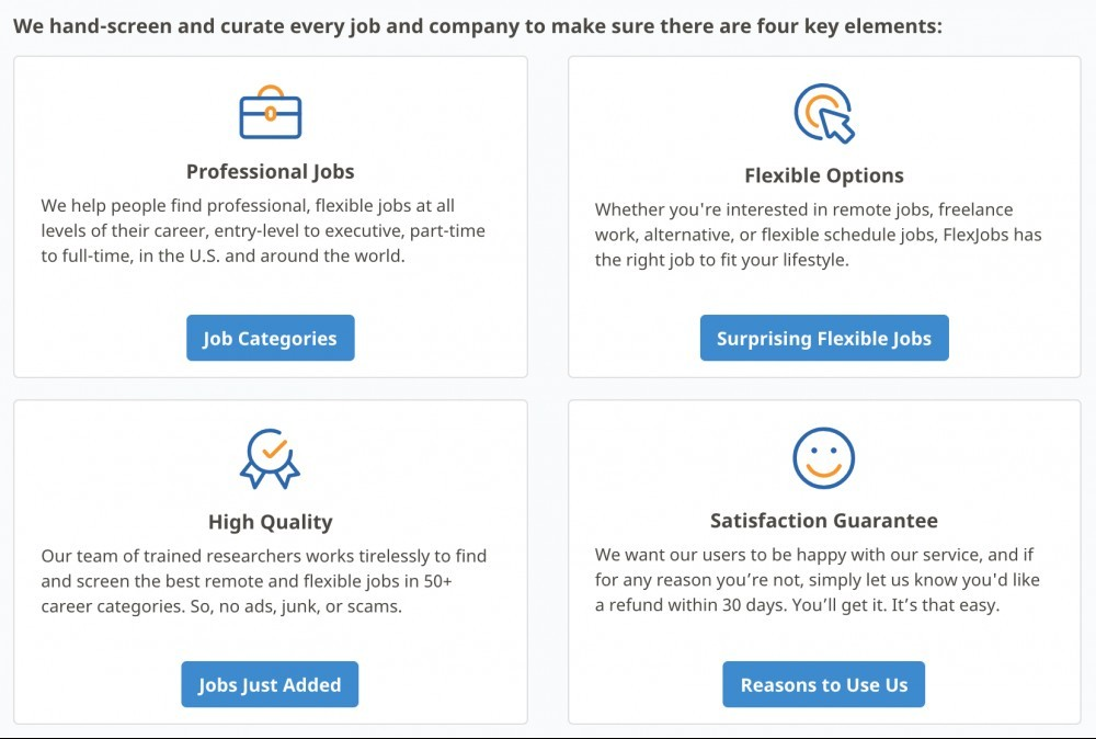Remote Jobs Recommendation FlexJobs Key Features