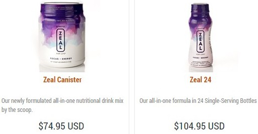 Are the Zurvita Zeal for Life products expensive?
