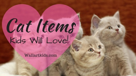 decorative cat items kids will love, for cat themed bedroom.