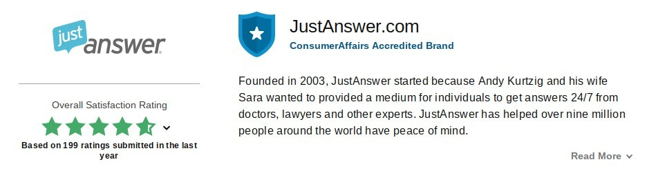 justanswer positive reviews