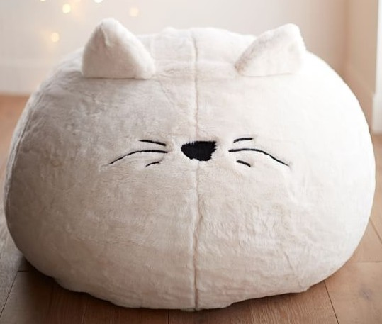 cat beanchair, for cat themed bedroom.