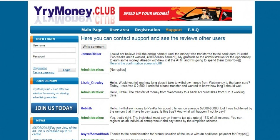 yrymoney-club-support-page-scam-proof