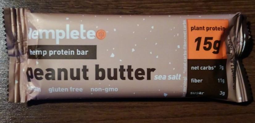 Hemplete Peanut Butter Sea Salt Hemp Protein Bar