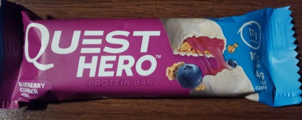 Quest Hero Blueberry Cobbler Protein Bar