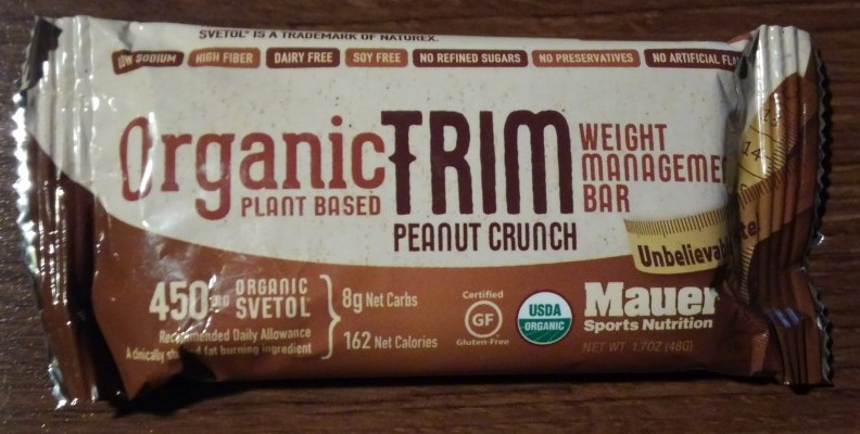 Mauer Organic Trim Peanut Crunch Weight Management Bar