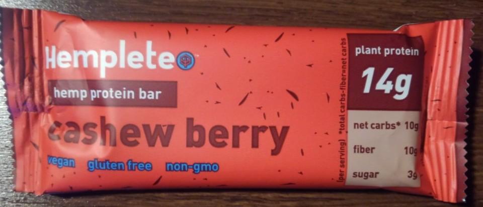 Hemplete Cashew Berry Hemp Protein Bar
