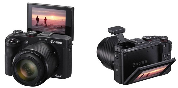 Canon G3X: Travel zoom camera with a tilting touch screen.