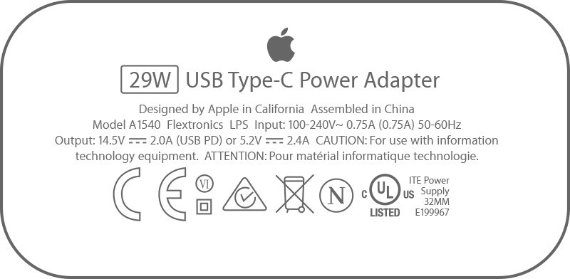 iPhone X power adapter