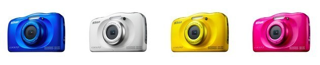 interesting different colours of Nikon Coolpix w100