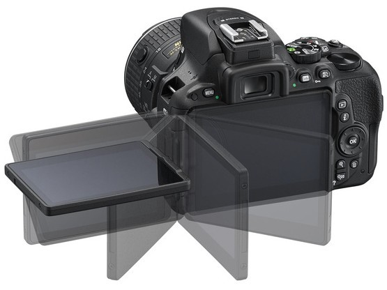 Nikon D5500 tilting touch screen