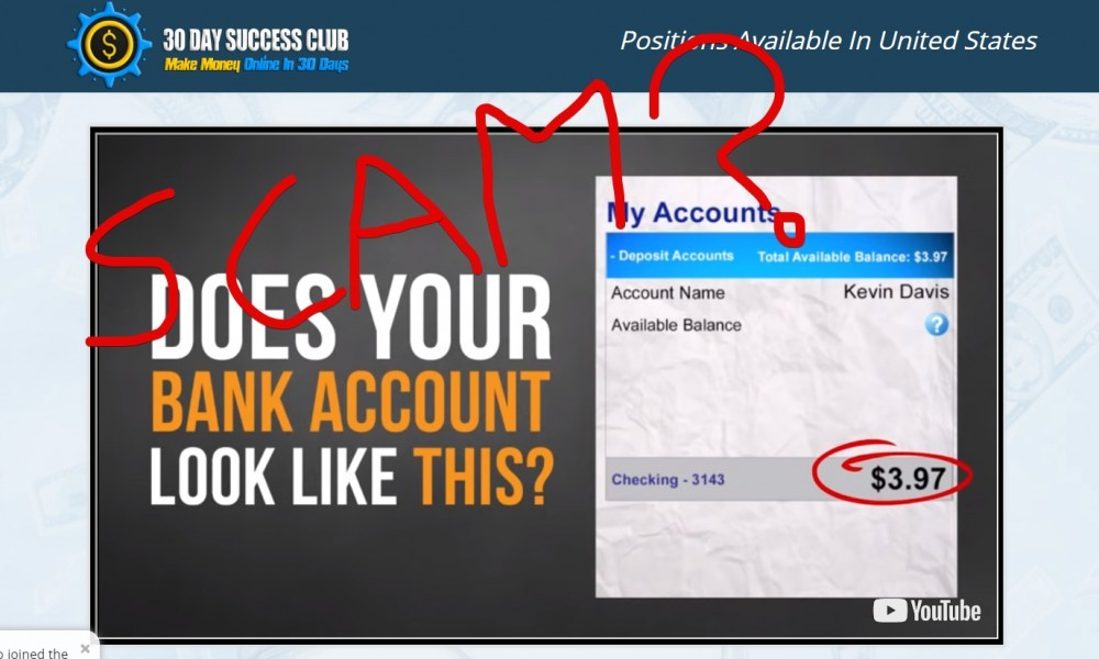 30 Day Success Club scam