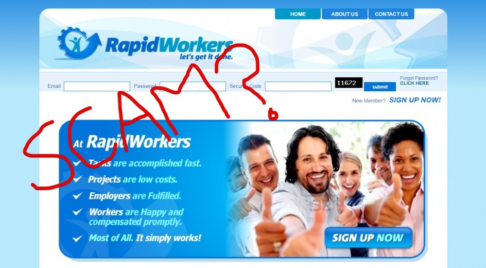 RapidWorkers scam