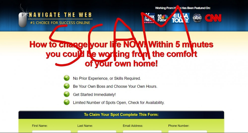 Navigate The Web scam