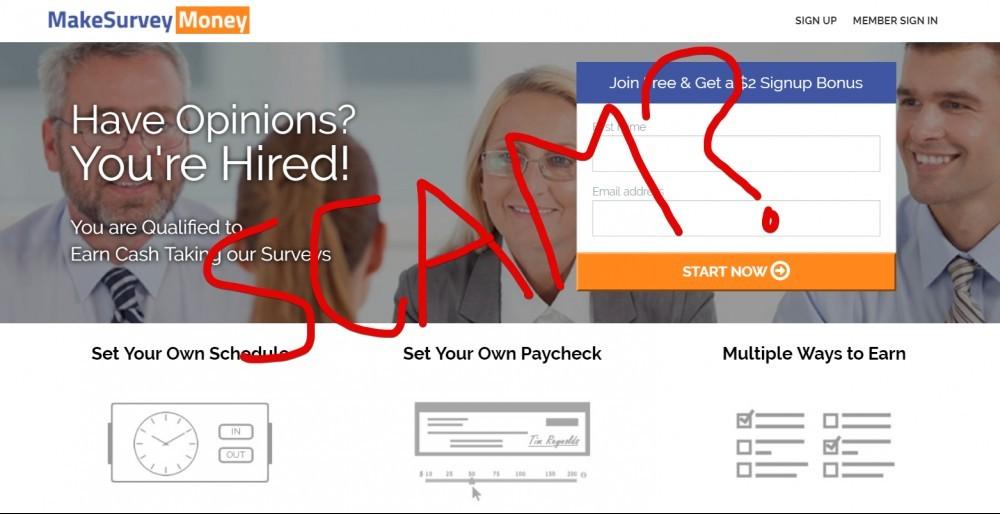 Make Survey Money scam