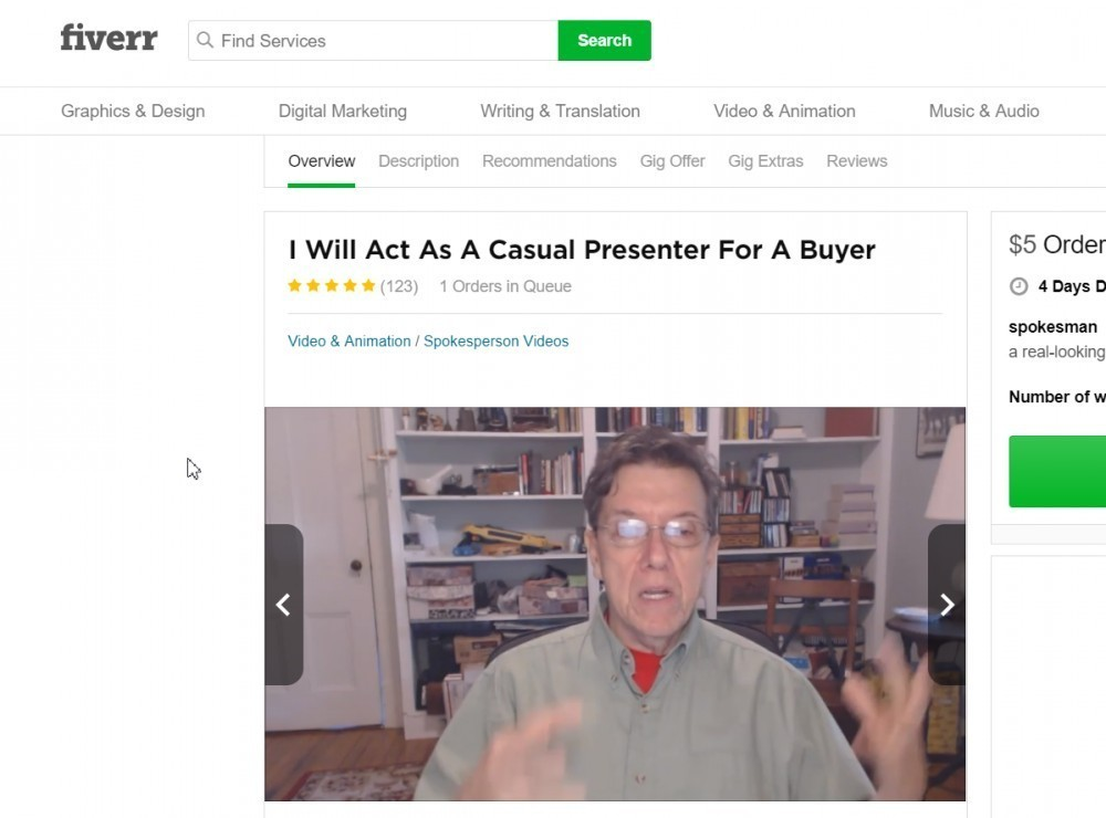 fiverr account