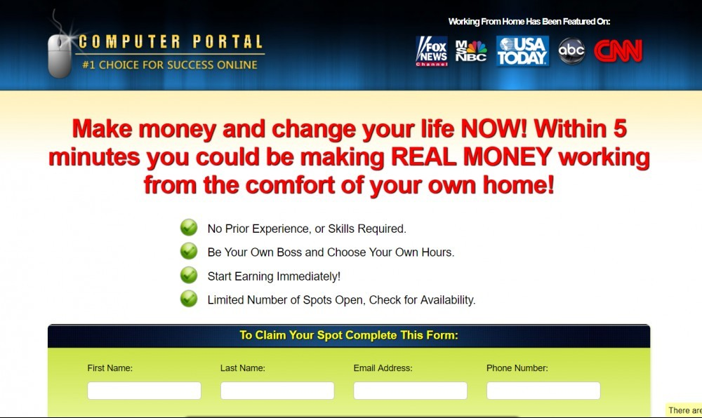 Computer Portal Scam