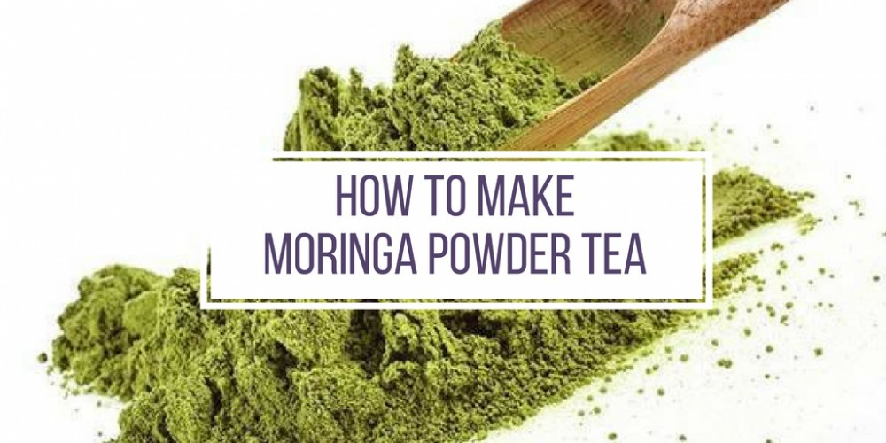 make moringa powder tea