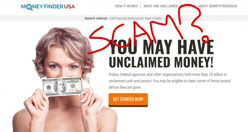 Money Finder USA Scam