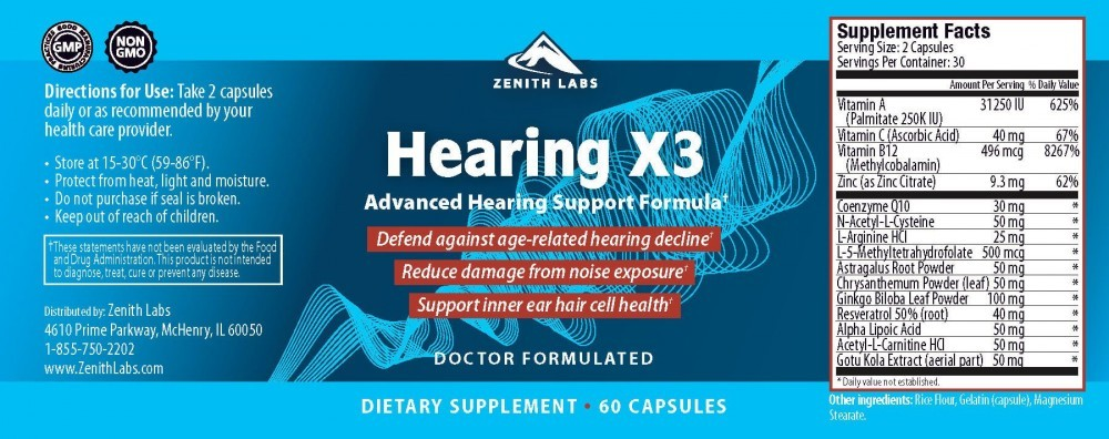 Hearing X3 Ingredients