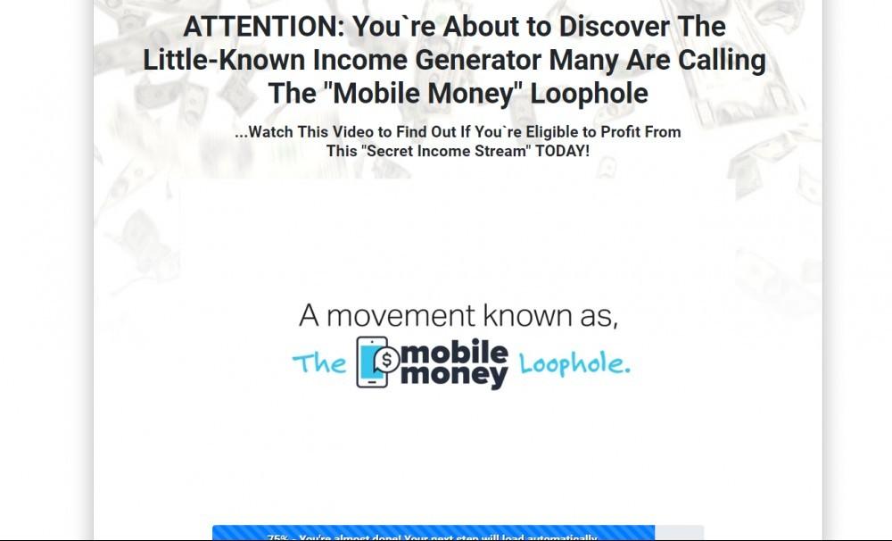 Mobile Money Loophole