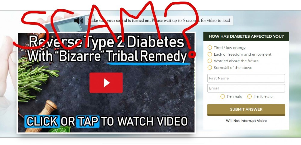 Vedda Blood Sugar Remedy scam