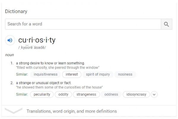 definition of curiosity