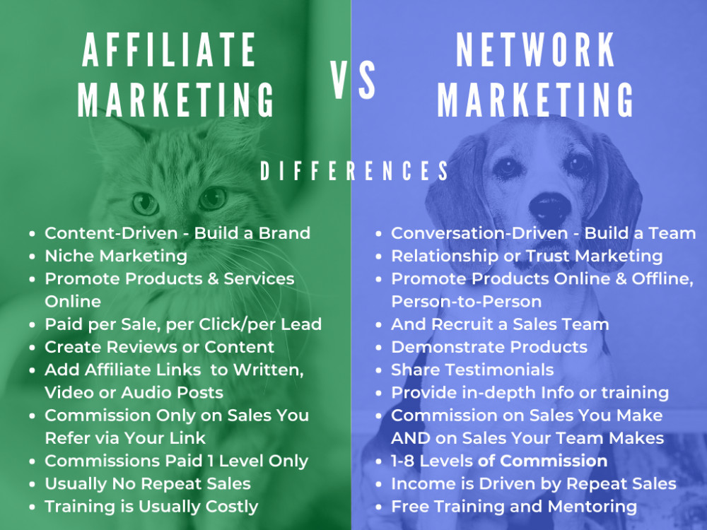 What is the Difference Between Affiliate Marketing Network Marketing