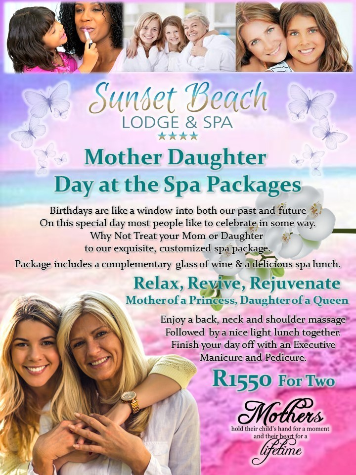 Mother Daughter Spa Package Sunset Beach Lodge and Spa