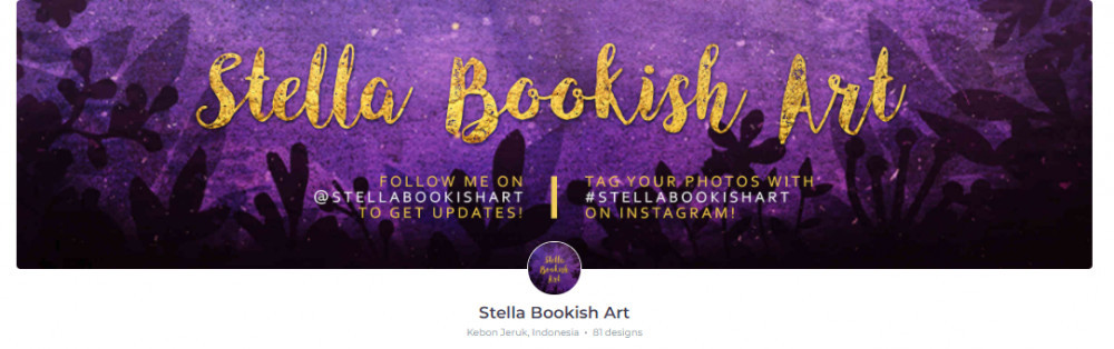 Stella Bookish Art RedBubble