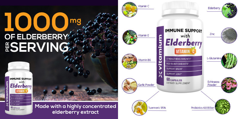 Immune Support with Elderberry Vitamin C