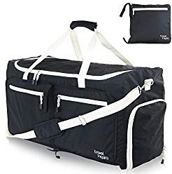 Travel inspira 85L Foldable lightweight Water Resistant Lug-gage Bag Duffel for Sports Gym Camping