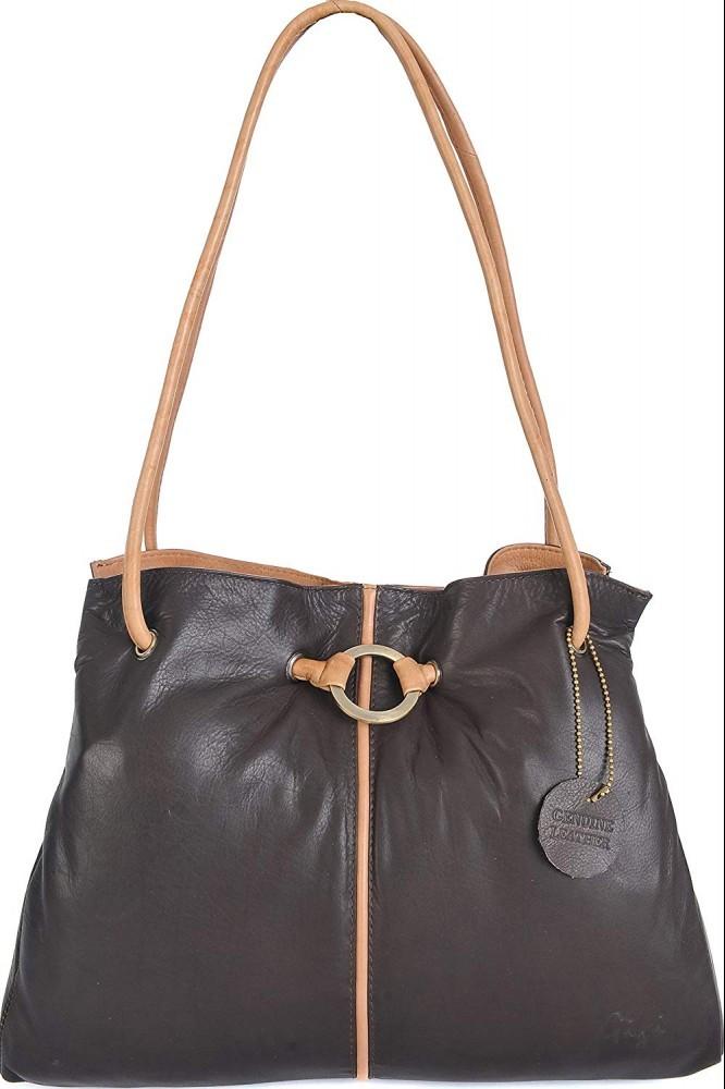 Side view - Gigi Women's Leather Handbag