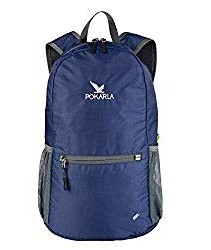 Pokarla 22L Durable UltraLight Packable Backpack Foldable Water Resistant Student Hiking Daypack Kids Small Backpack Outdoor Pocket Daypack Little Bag Unisex Dark Blue