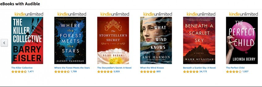 Kindle Unlimited eBooks with Audible