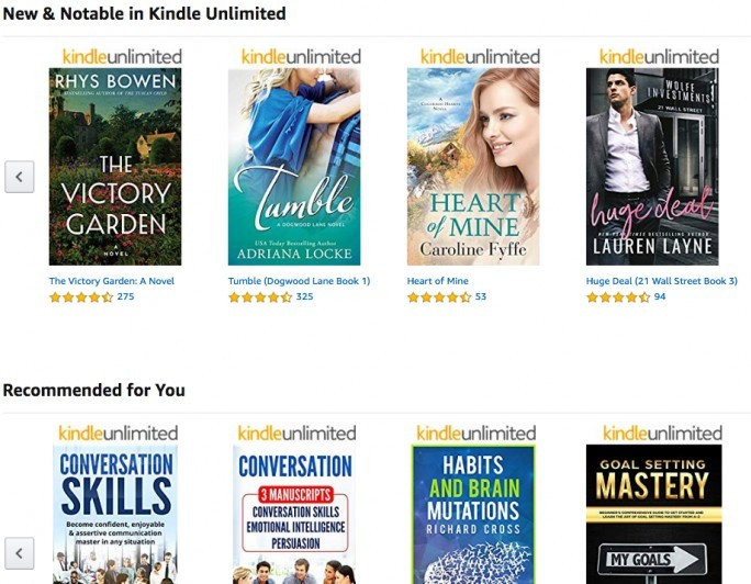 Kindle Unlimited Books Selection