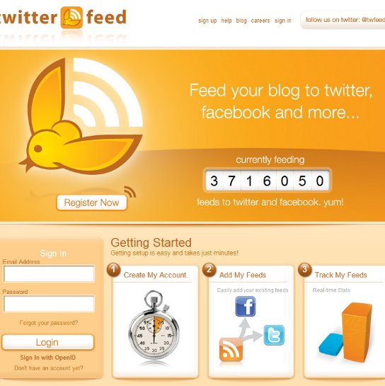 Auto posting your blog posts to twitter and facebook