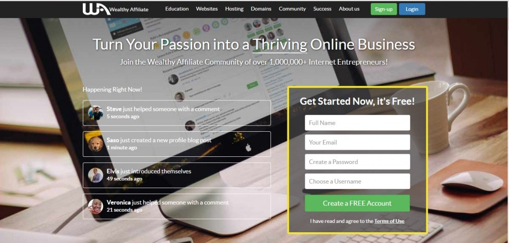 Get Started Free at Wealthy Affiliate